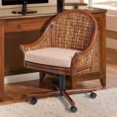 Fiji Rattan And Wicker Office Furniture Seawinds Desk Suite