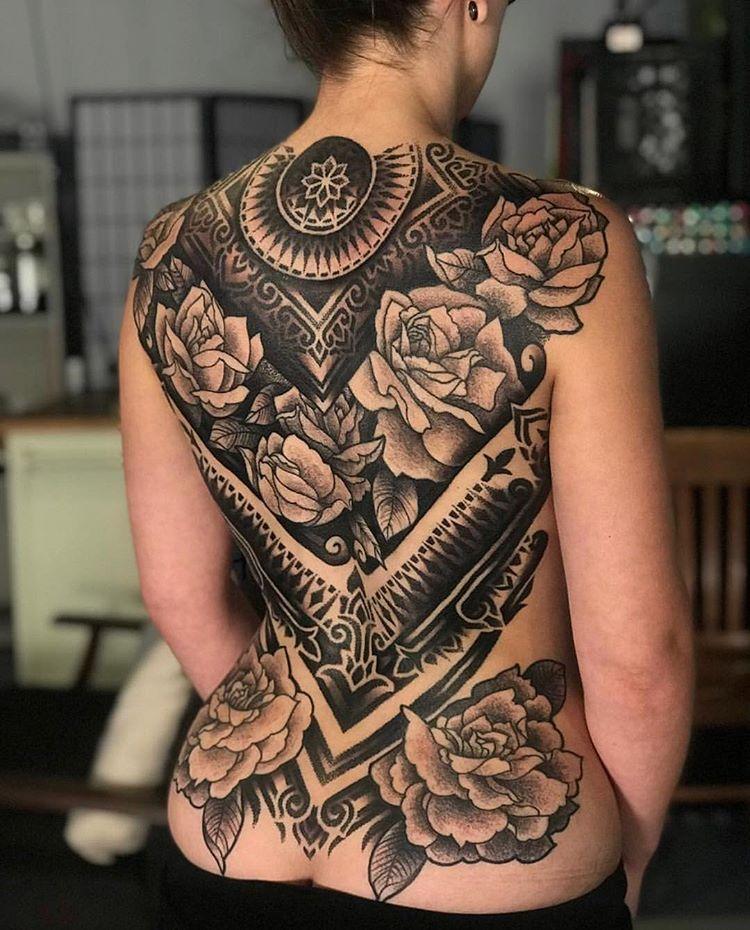 Blackwork Inspiration Inkstinct Tatuaż Tatuaż Na