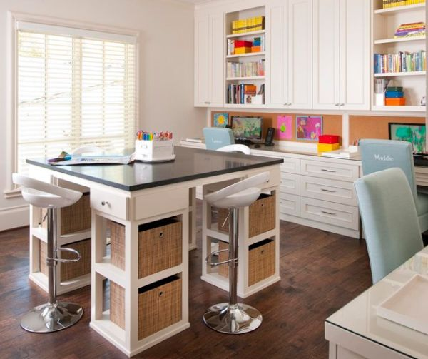 Attractive Beautiful Craft Room Interior Design Ideas That Make Work Easier