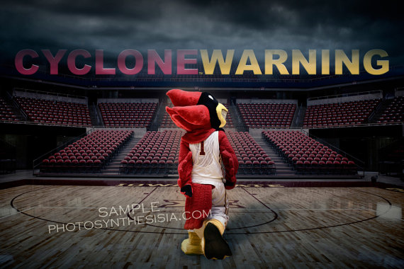 Isu Wrapped Canvas Cyclone Warning Showcase Design Cyclone