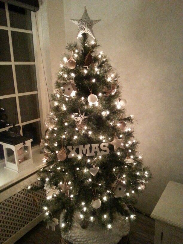 Prachtige landelijke kerstboom Christmas! Pinterest Xmas