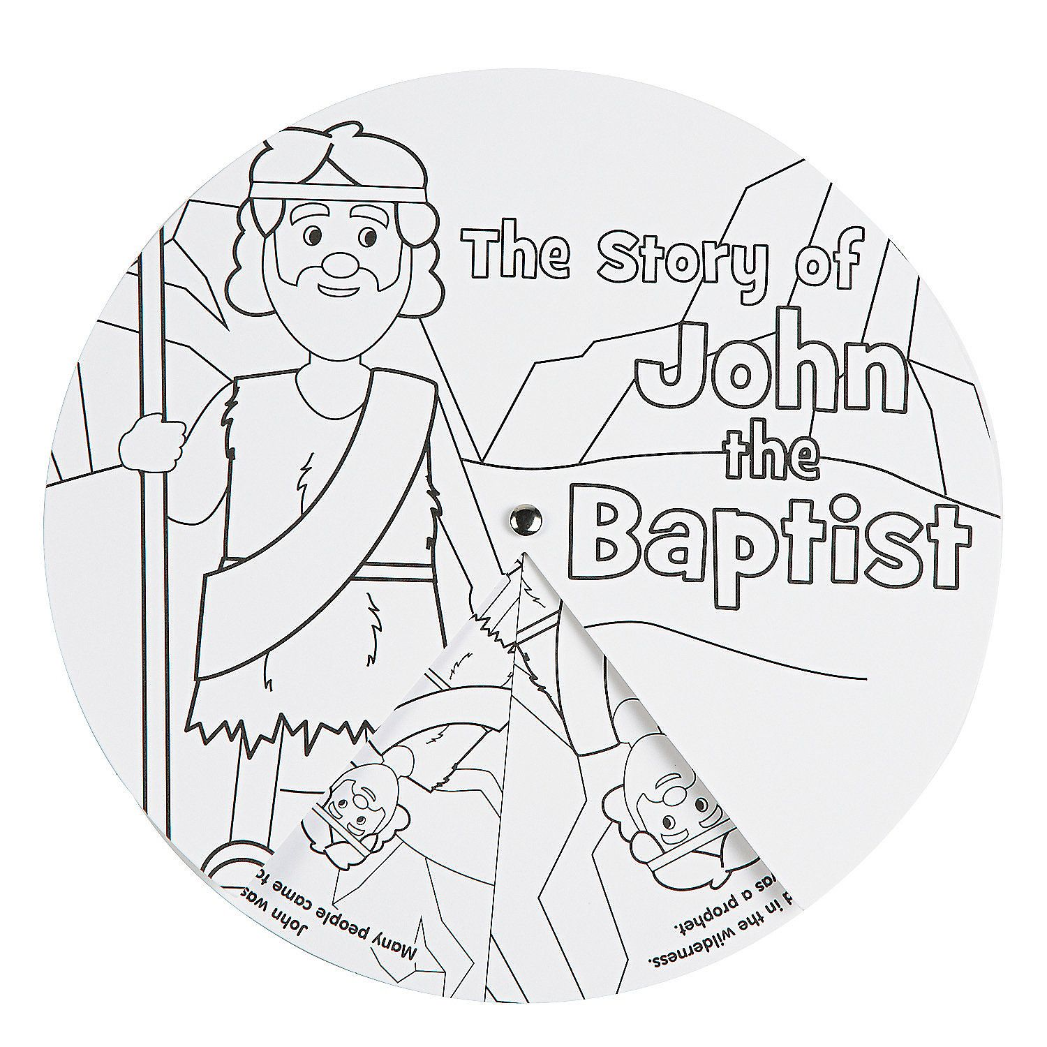 Color Your Own John The Baptist Story Wheels