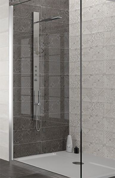 Tilemax Torno Blanco Deco + Torno Grafite Deco | Bathrooms