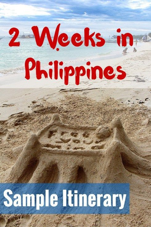 2 Weeks in Philippines Sample Itinerary - FreeYourMindTravel - sample travel budget