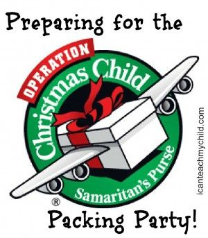 Preparing for the Operation Christmas Child Packing Party - Doing this next year!!