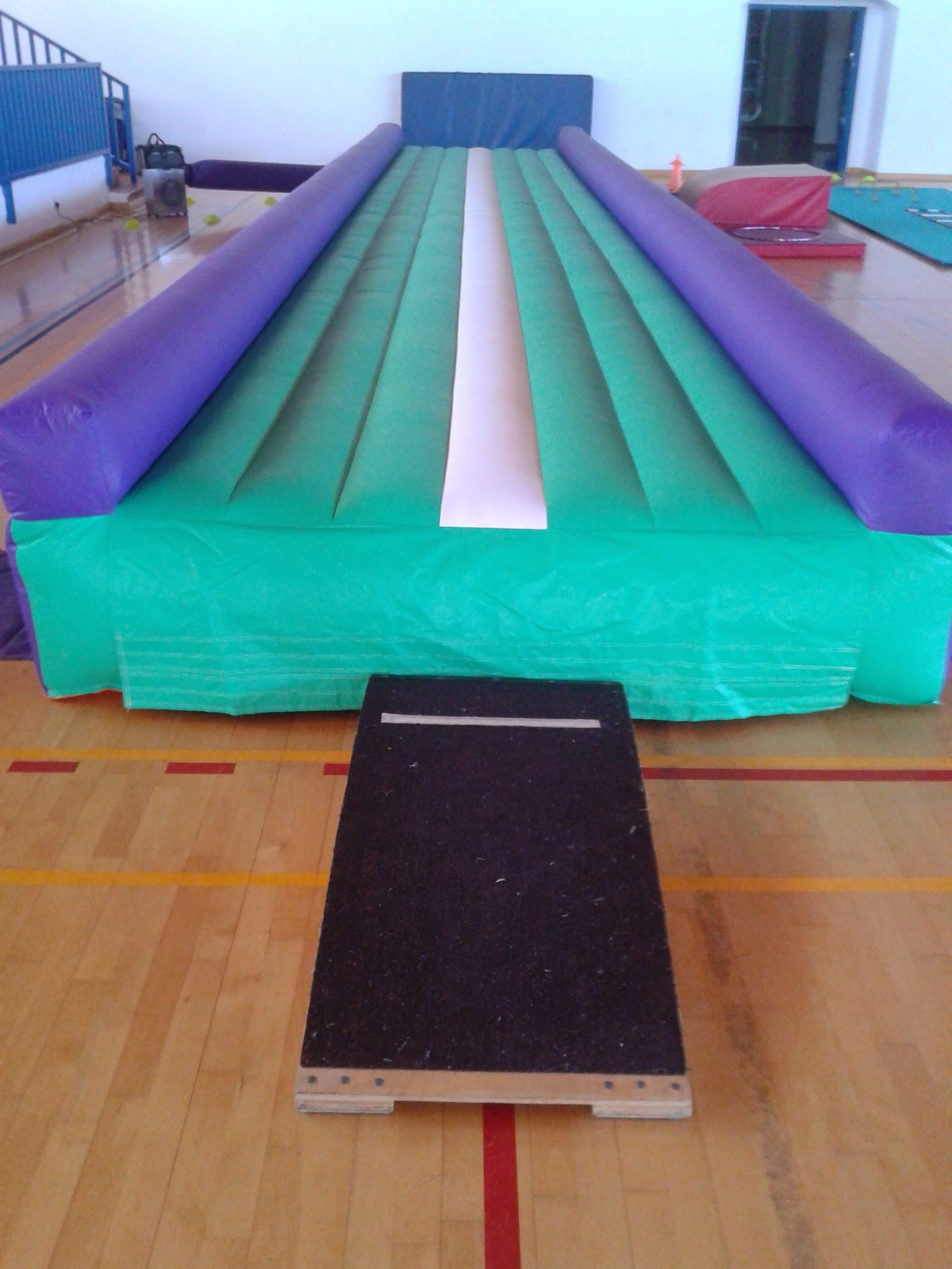 Tumble track ready for springboard practice