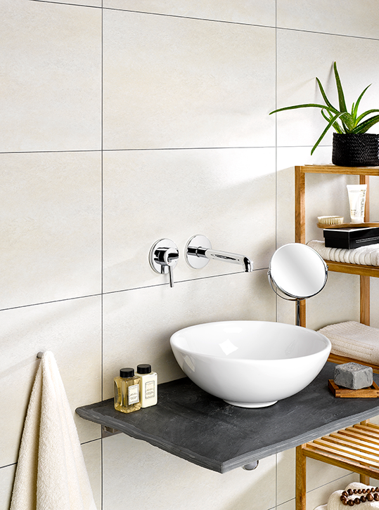 Dumawall Plus Beige Solid Bathroom Wall Tile Mb Diy Bathroom Wall Tile Wall Tiles Waterproof Wall Panels