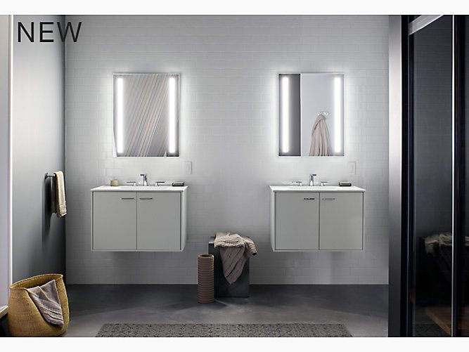 The K 99007 Tl Na Lighted Medicine Cabinet Delivers An Optimally Bright Even Light Ideal For