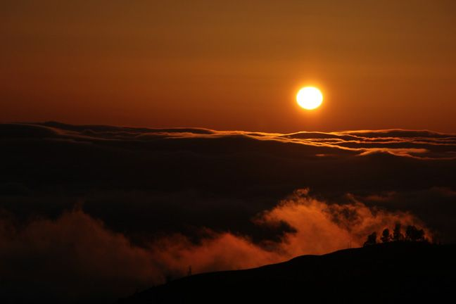 Foggy Figueroa sunset