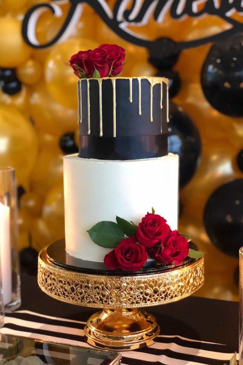 12 Inch Round Shiny Metallic Wedding Cake Stand Gold Plated