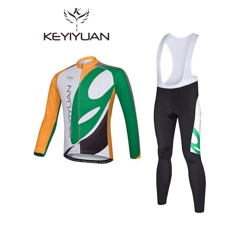 KEYIYUAN 2017 Sportswear Cycling Wear Cycling Jersey bib pants set Outdoor Mountain  Bike Bicycle Cycling Jersey b0a301fa2