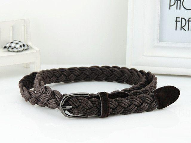 New Women Belt New Style Candy Colors Hemp Rope Braid Belt Female Belt For Dress