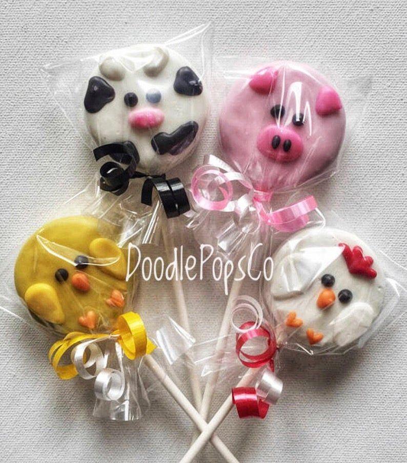 12 SHEEP Chocolate Covered Oreo Cookie Favors Farm Barnyard Birthday Baby Shower Candy