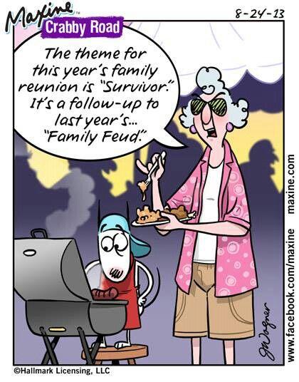 Maxine -- family reunion | Maxine Says... | Funny, Humor ...