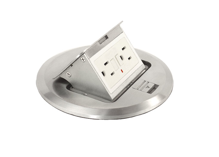 10 easy pieces floor outlets box covers outlets and box for Floor electrical outlet