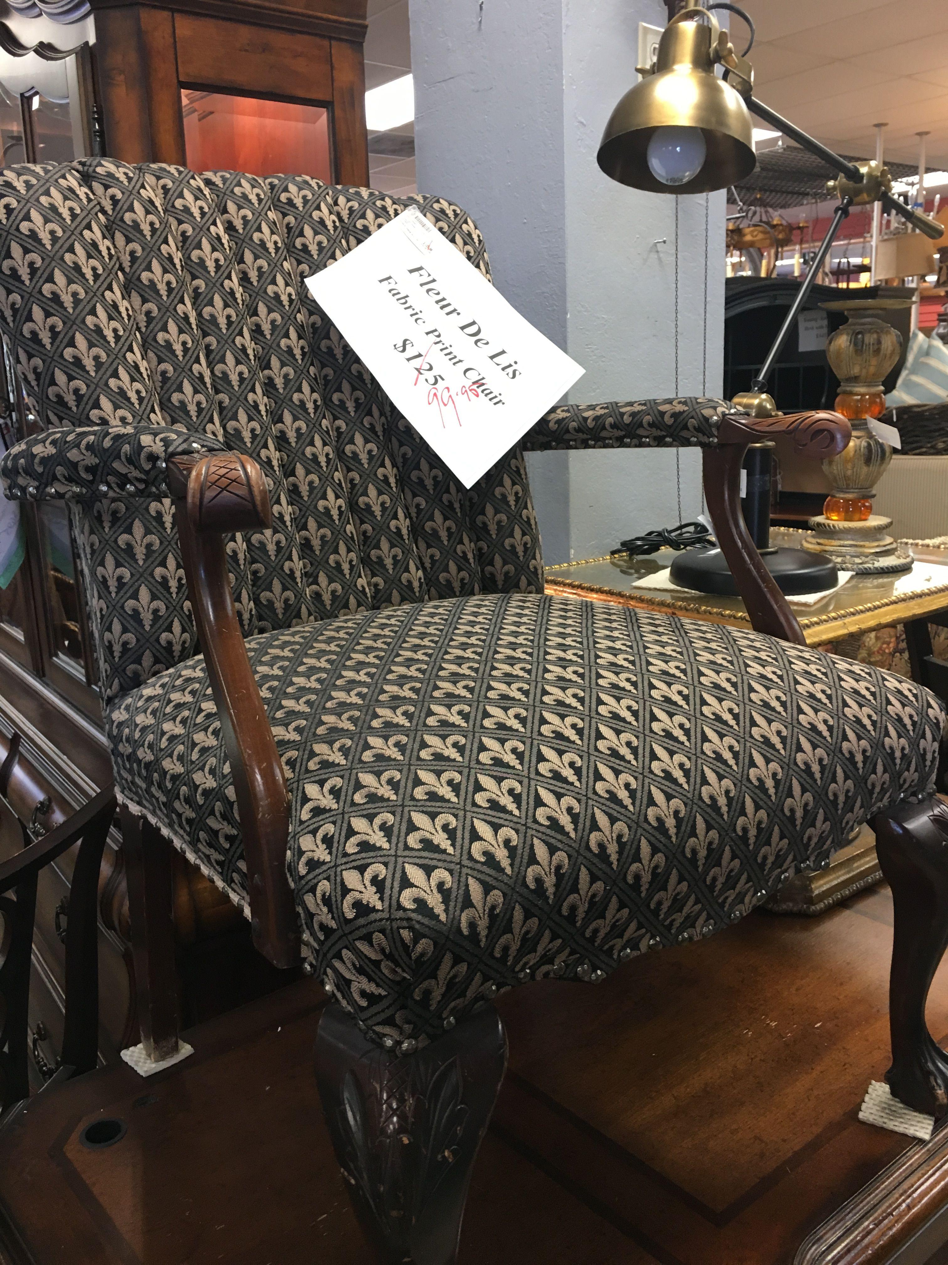 Fleur De Lis Chair Seen At My Sisteru0027s Attic, Scottsdale, ...