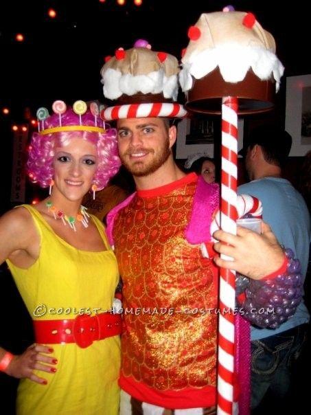 Coolest Homemade Candy Land Group Halloween Costume Group - cool group halloween costume ideas