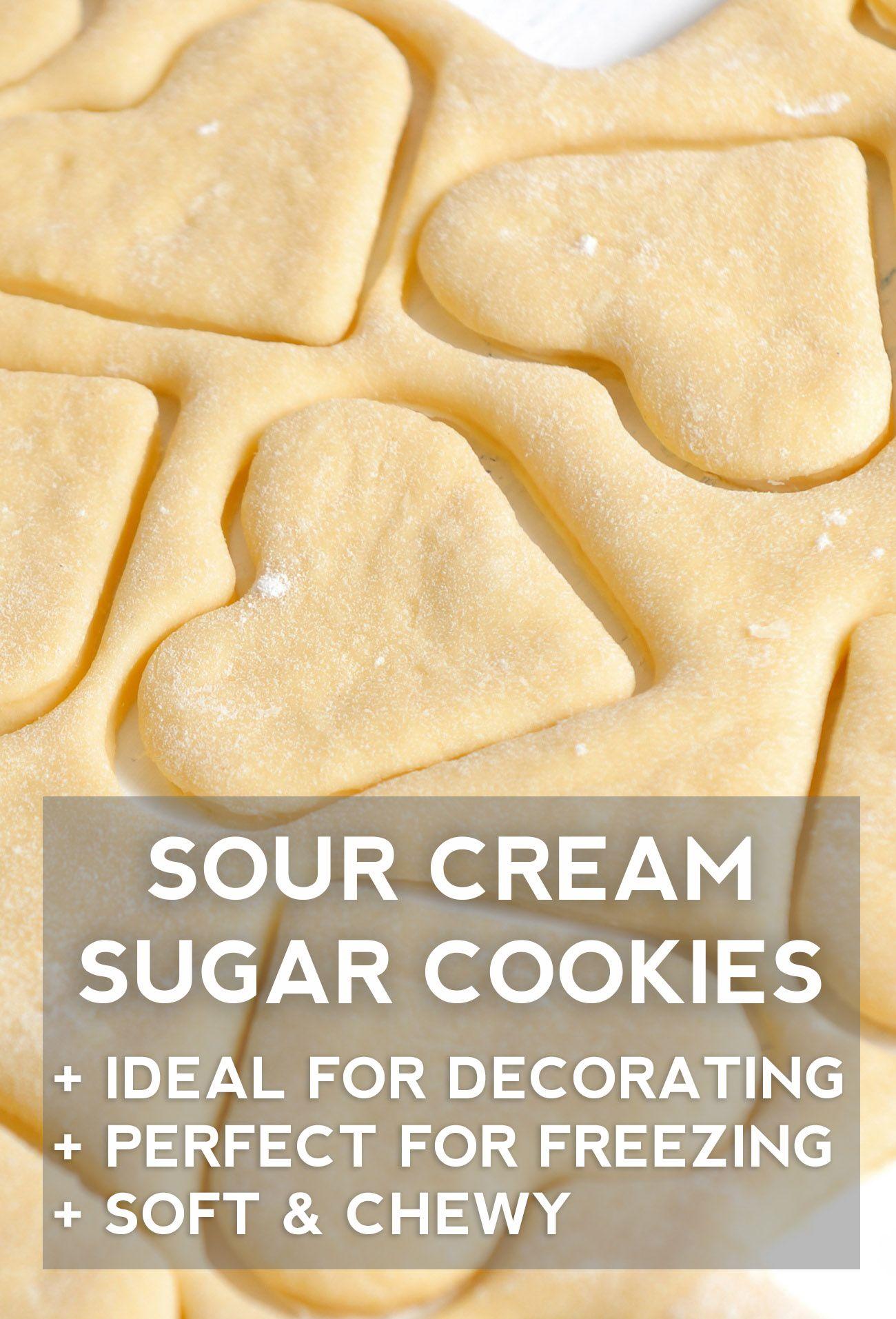 Sour Cream Sugar Cookies Recipe Sour Cream Sugar Cookies Best Christmas Cookie Recipe Cookies Recipes Christmas