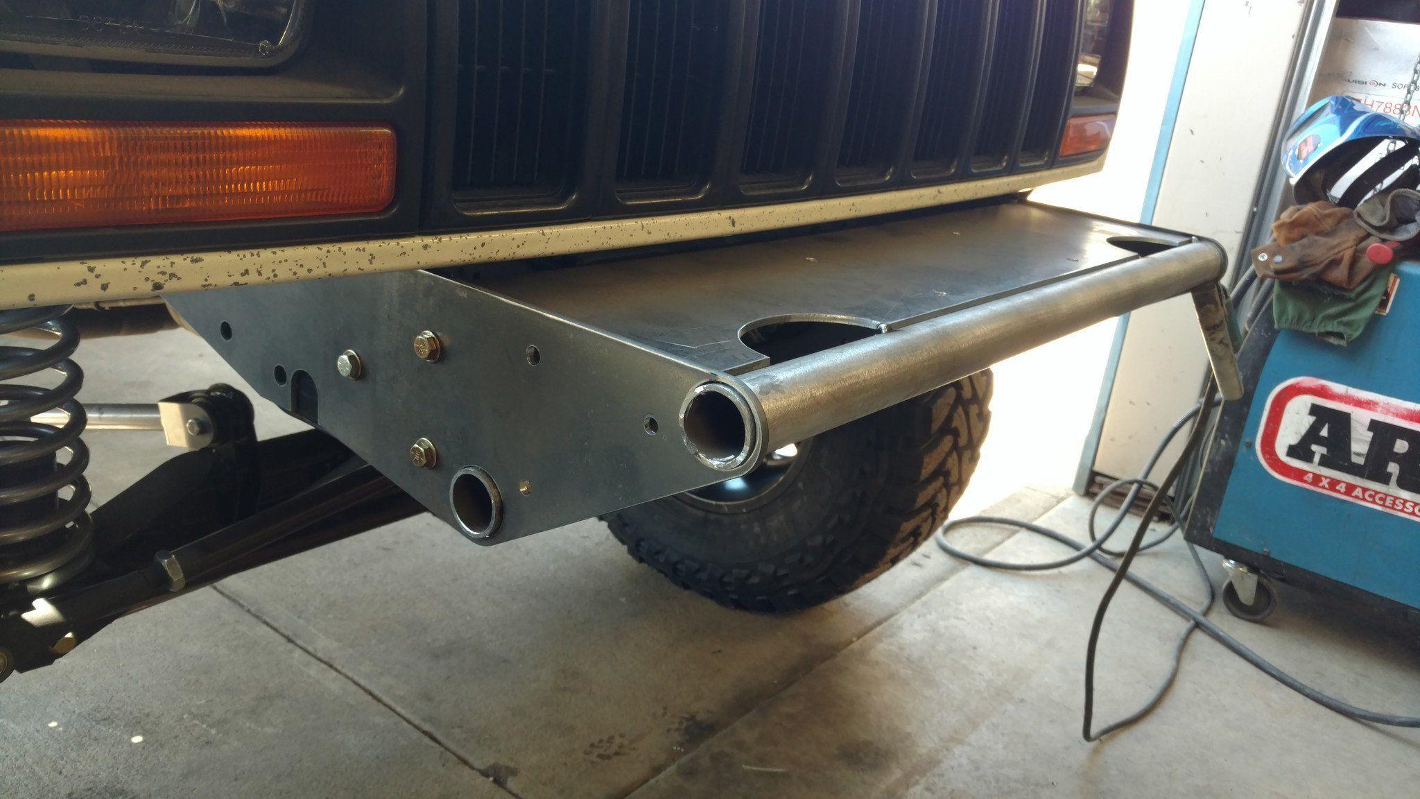 Jeep Xj Winch Tube Bumper Builder Brackets In 2020 Jeep Xj Bumpers Winch Bumpers
