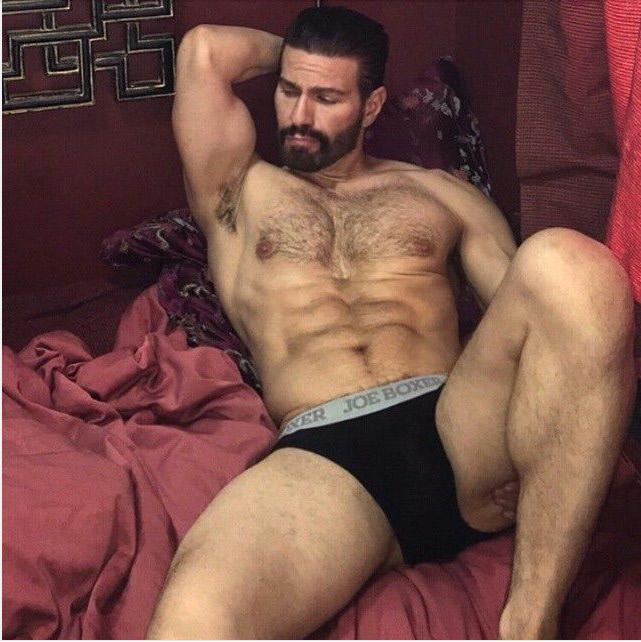 Msn hombre peludo sin camisa