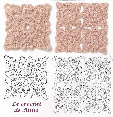 Carrés Au Crochet Crochet Crochet Motifs Et Carrés Au Crochet