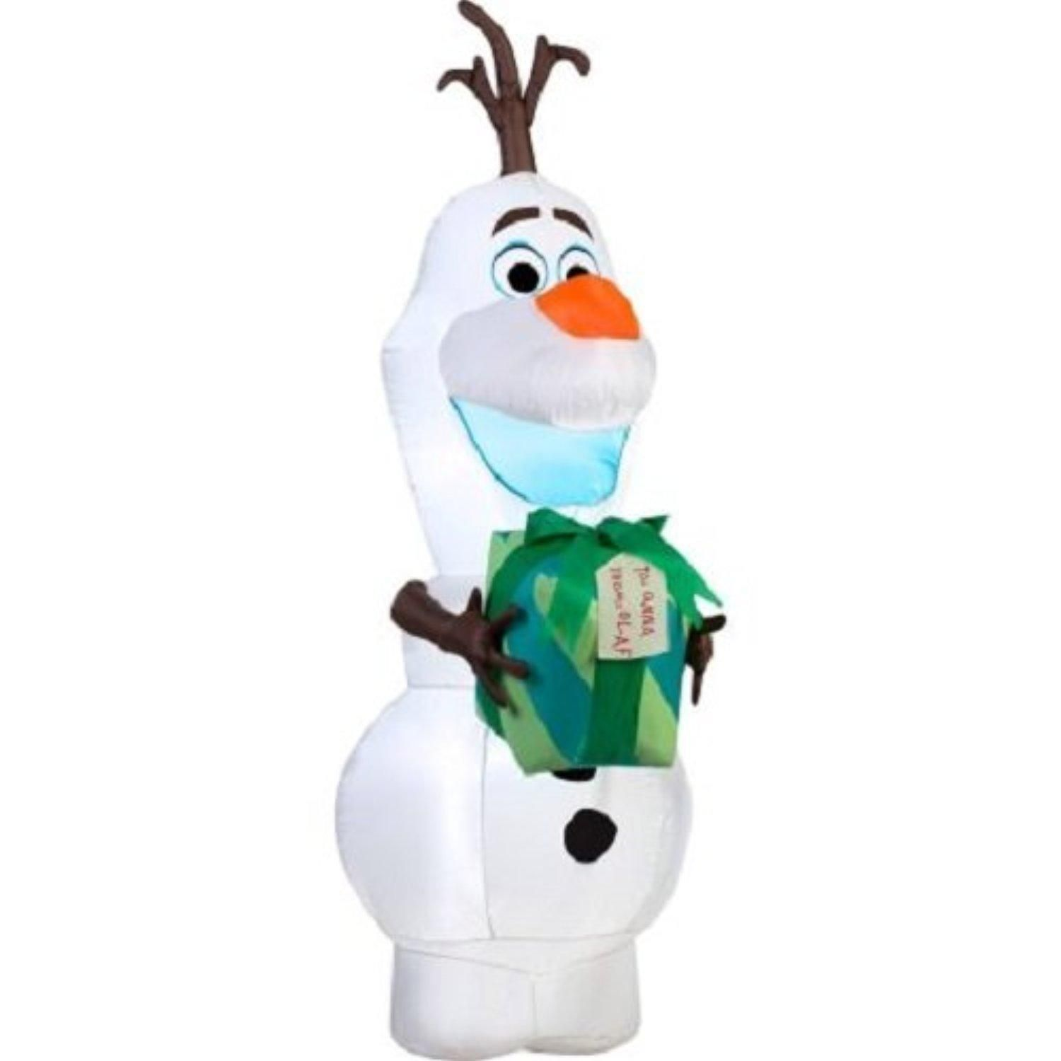 NEW Lawn Inflatables Christmas Airblown Yard Decor Airblown Inflatable  Disney Olaf With Gift, 5.5u0027