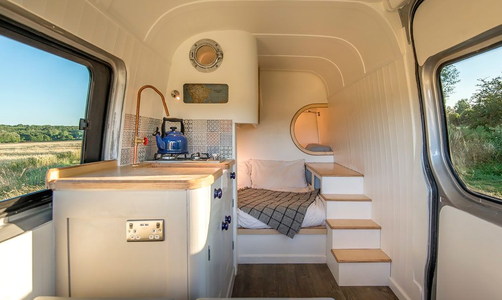 Amazing camper van maximizes space with clever boat design tricks ...