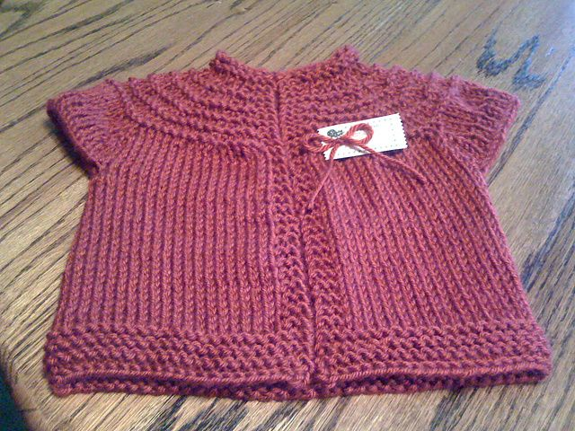 Baby Girl Sweater Patterns Knitting : Ravelry: Baby Vest Garter Ridges pattern by Suzetta Williams puntadas, aguj...
