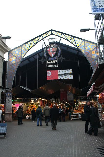 La Boqueria market, Barcelona. @Transitions Abroad