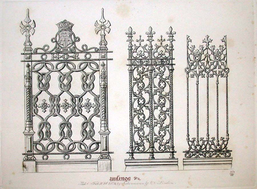 Augustus Welby Pugin Designs For Iron Brass Work In The Style Of XV Vintage ArchitectureVictorian GothicFuture