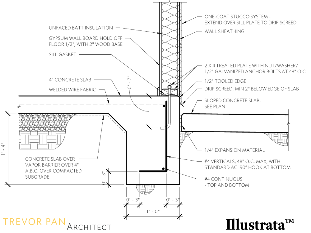 Concrete Slab To Wall Framing Detail Google Search In 2020 Detailed Drawings Roof Detail Concrete Masonry Unit