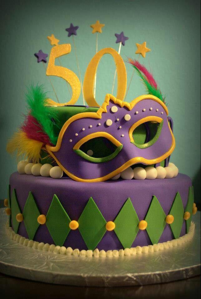 Masquerade/Mardi Gras cake by Lana Cakes | Cakes | Pinterest ...