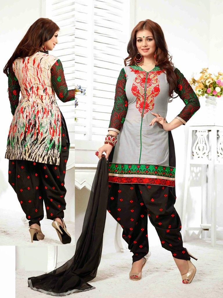 Ravishing Black Grey Ayesha Takia Patiala Salwar Suit Buy Online ...