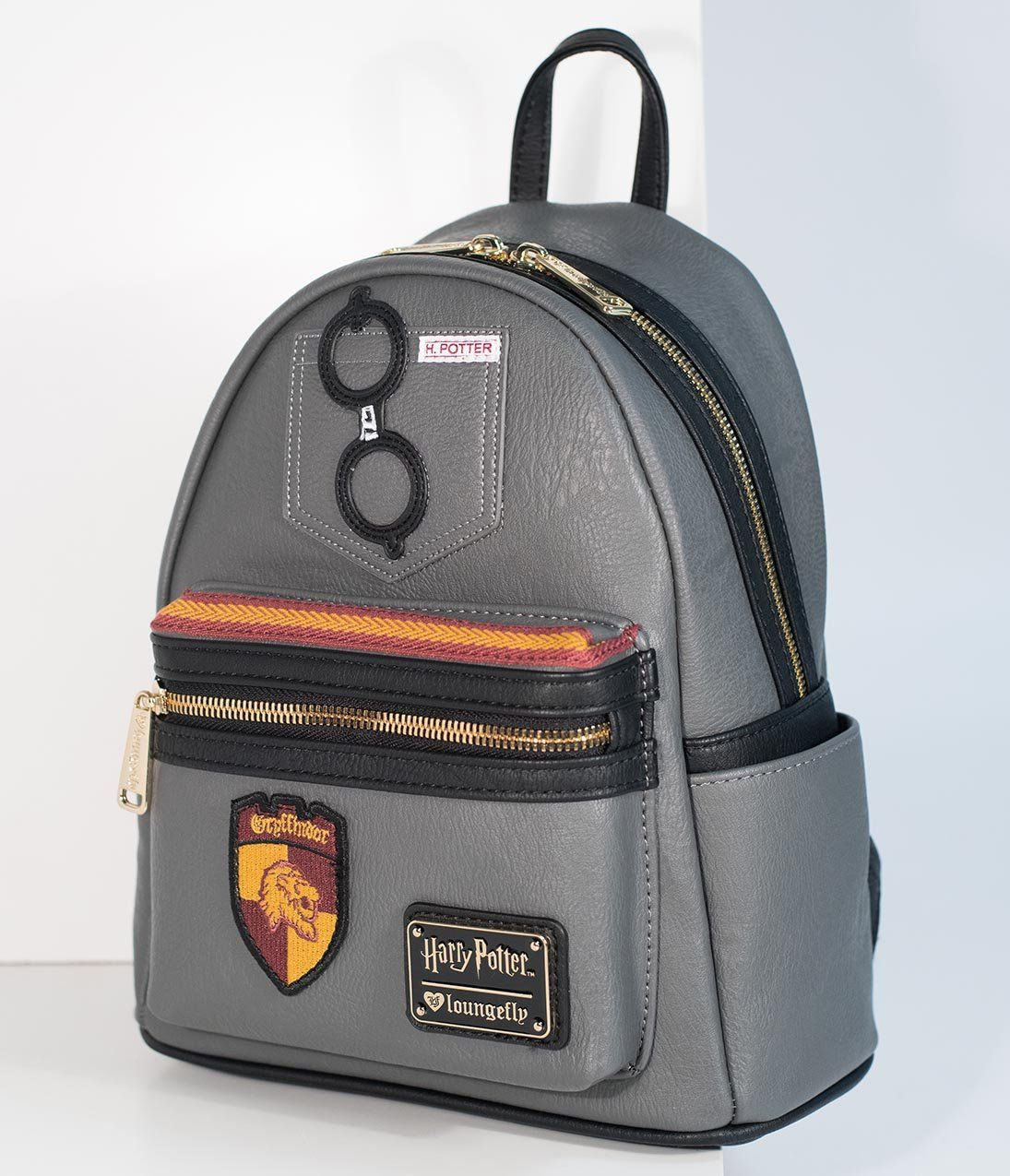 5d39bbffaee Loungefly Grey Leatherette Harry Potter Mini Backpack – Unique Vintage