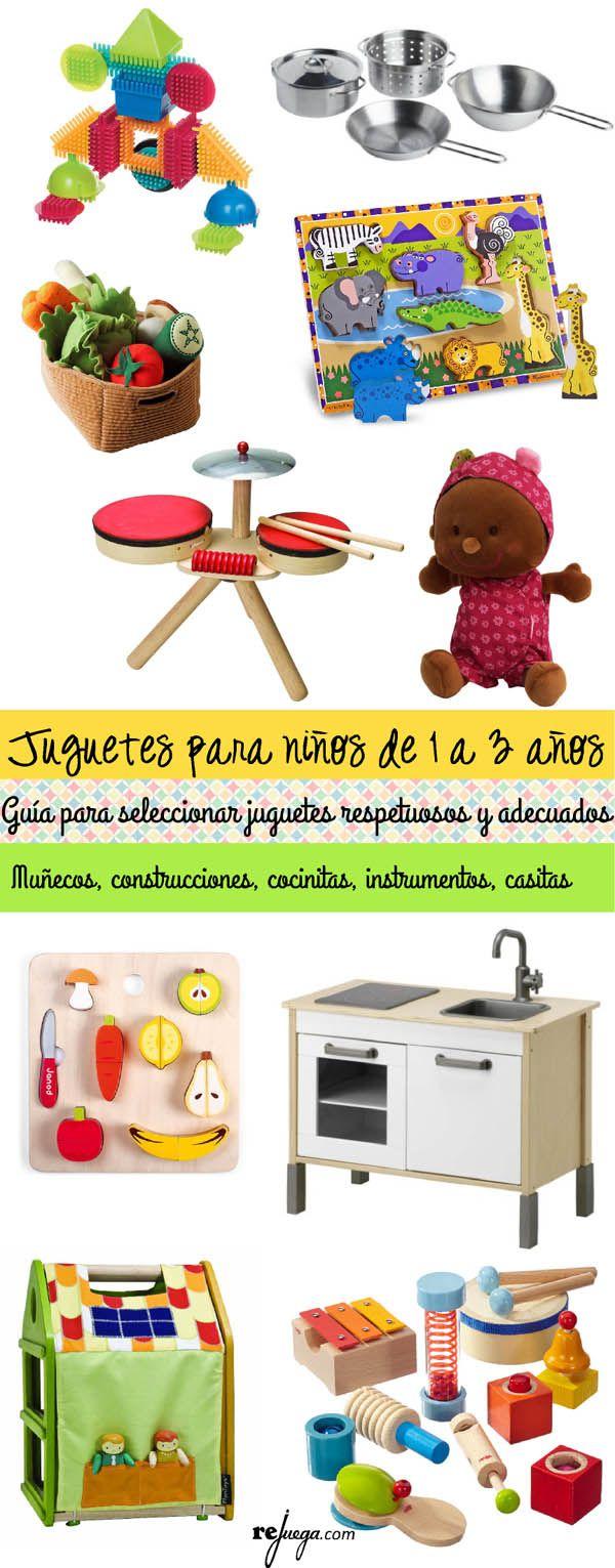 Selecci N De Juguetes Para Ni Os De 1 A 3 A Os Diy Pinterest  ~ Juegos Para  Ninos De Tres Años En Casa