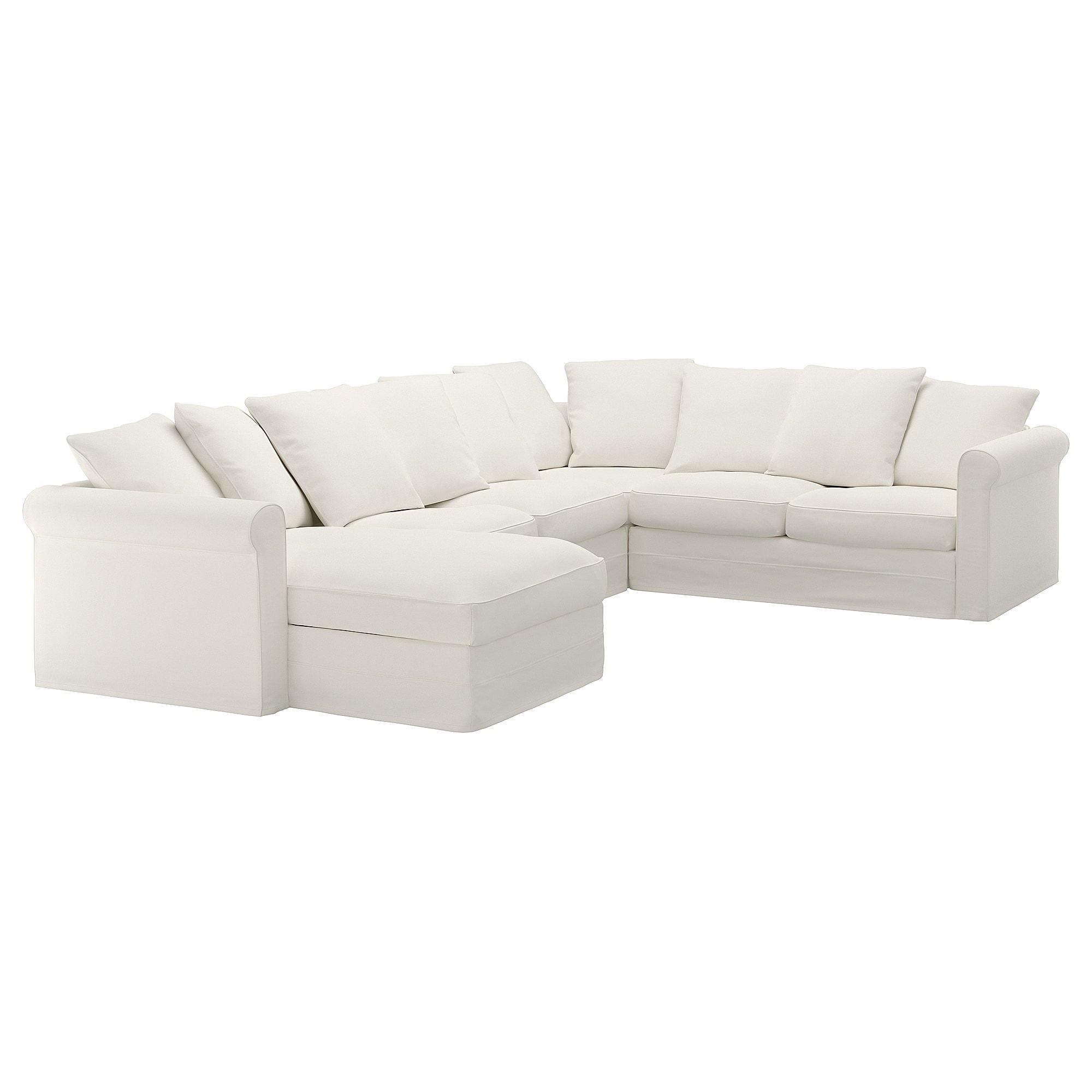 Gronlid Sectional 5 Seat Corner With Chaise Inseros White Sofa En Forma De U Telas Sofas Sofa Ikea