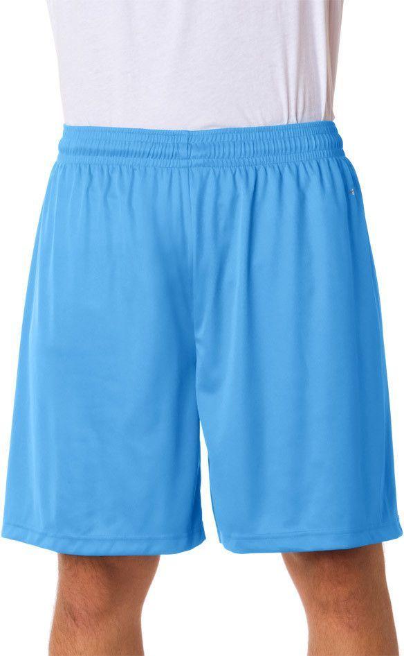 "badger adult b-core 7"" performance shorts - columbia blue (s)"