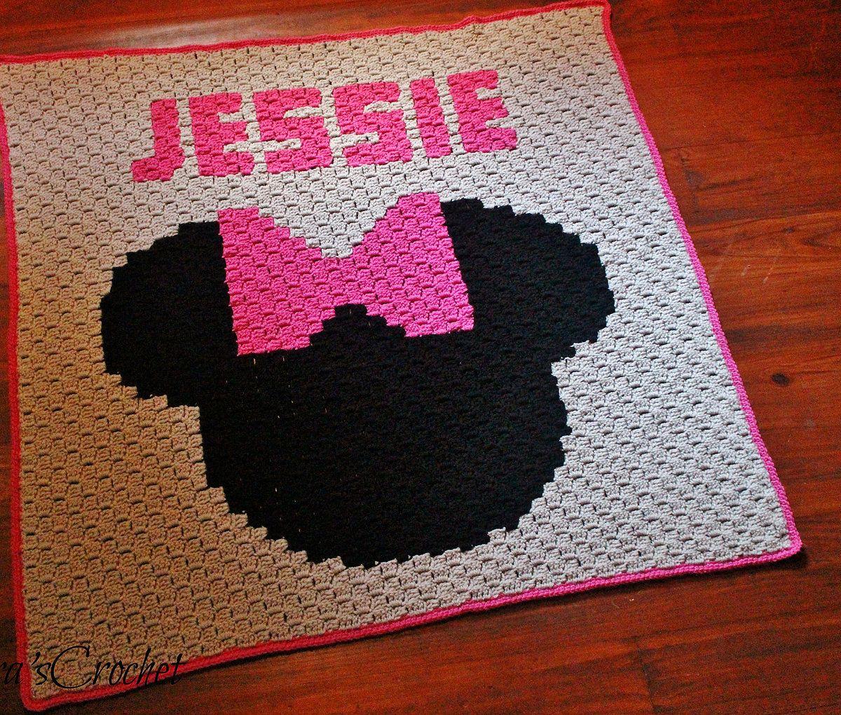 Minnie Mouse - C2C Blanket {Pattern} | crochet patterns | Pinterest