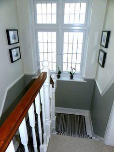 grey hallway with dado rail google search. Black Bedroom Furniture Sets. Home Design Ideas