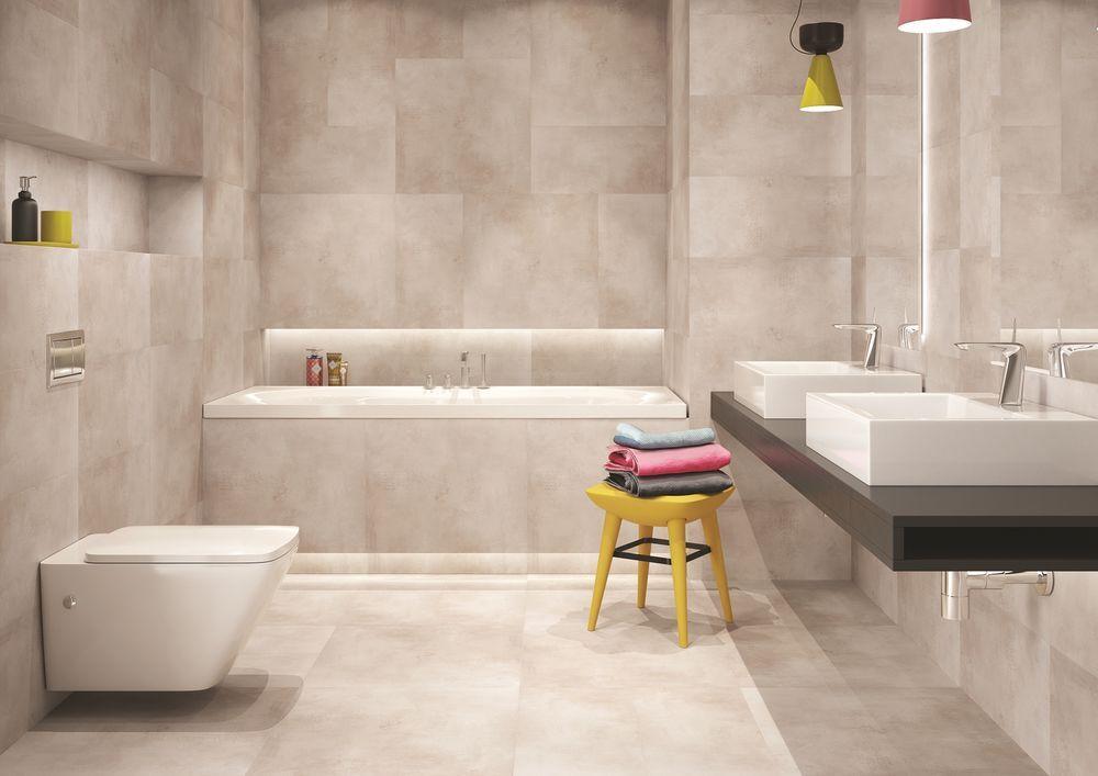 Bodenfliese Lima #Steinoptik beige matt Maße #60x60 cm Bad WC