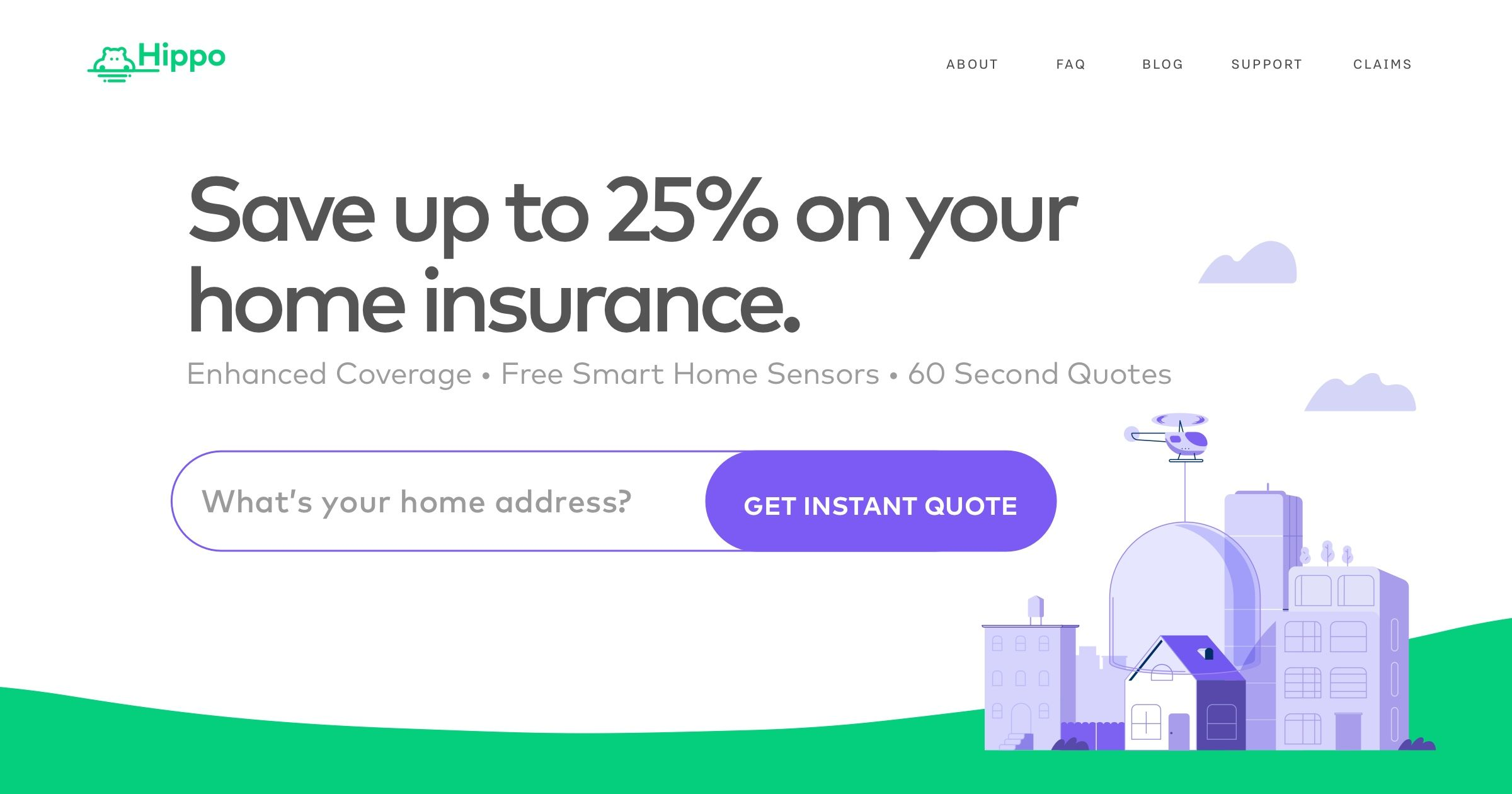 Simpler Smarter Home And Condo Insurance For Up To 25 Less Hippo Has Modernized Home Insurance We With Images Home Insurance Quotes Home Insurance Cheap