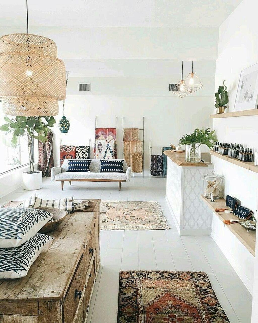 50 Romantic Bohemian Style Living Room Design Ideas