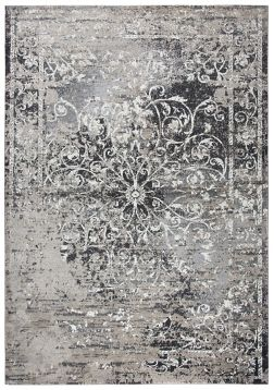 Gray And Taupe Scrolled Medallion Area Rug 8x10 Rugs Area Rugs