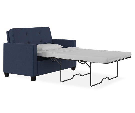 Best Ameriwood Devon Navy Blue Sleeper Chair And A Half Chair 400 x 300