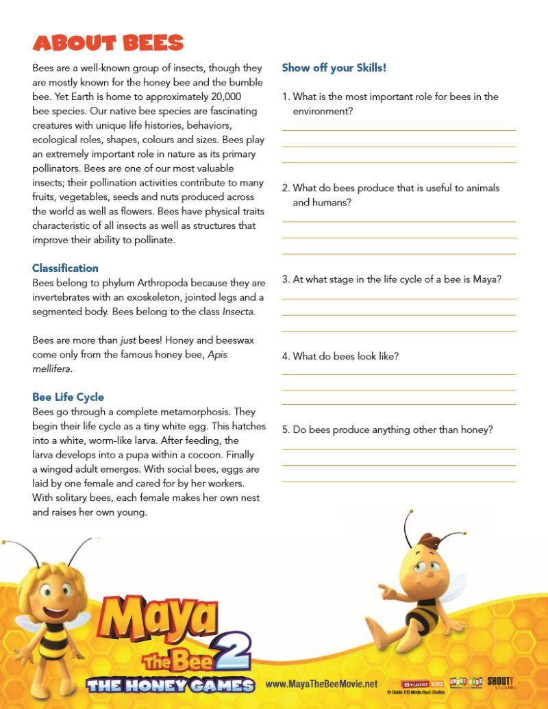 Bee Facts Worksheet Free Printable Mamalikesthis