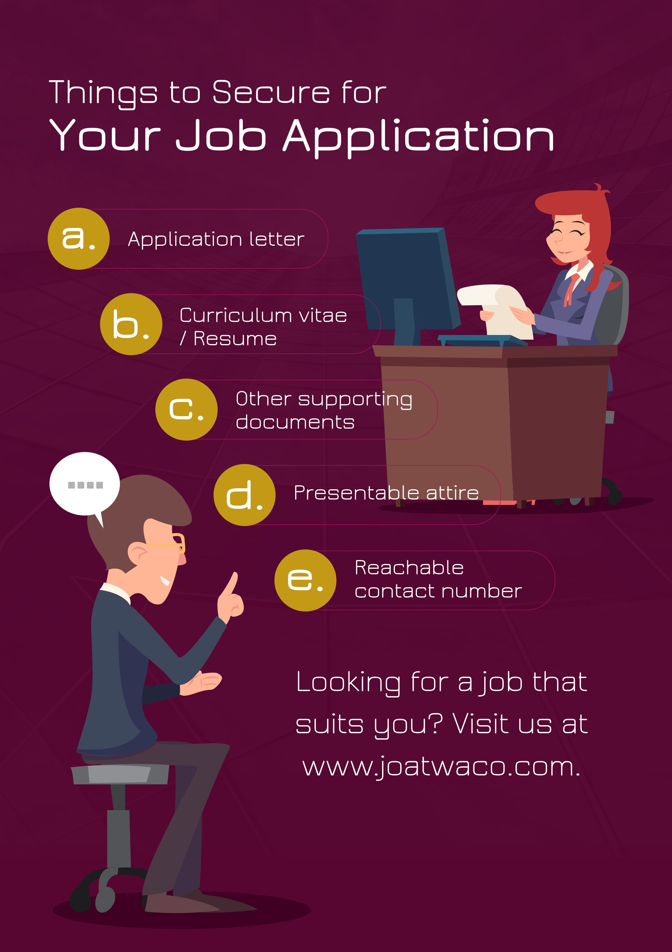 Looking For A Job That Suits You Visit Us At Joatwaco
