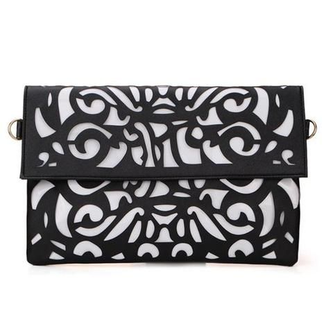Women Fashion Carve Hollow Out Design Clutch Bag