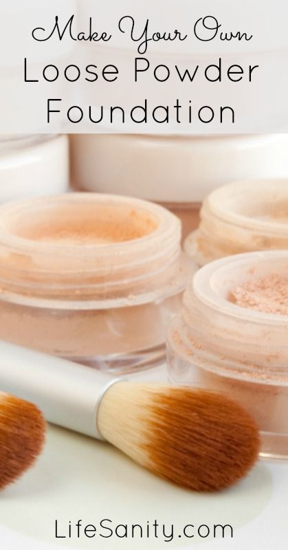 Make Your Own Loose Powder Foundation Life Sanity Loose Powder Foundation Diy Makeup Foundation Diy Beauty Recipes