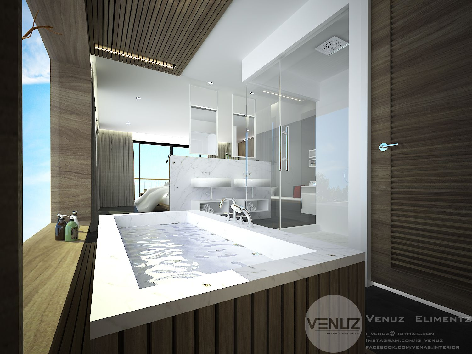 BATHROOM #HOTEL #THE_GALLERY_HOTEL #3D #3DMAX2014 #PERSPECTIVE ...