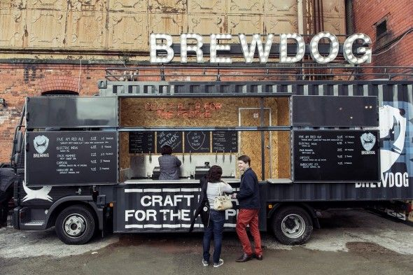 Here comes the brewtruck brewdog truck trailer bar for Food truck bar